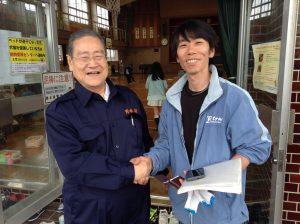 東京から駆けつけて下さったボランティアの方に感謝